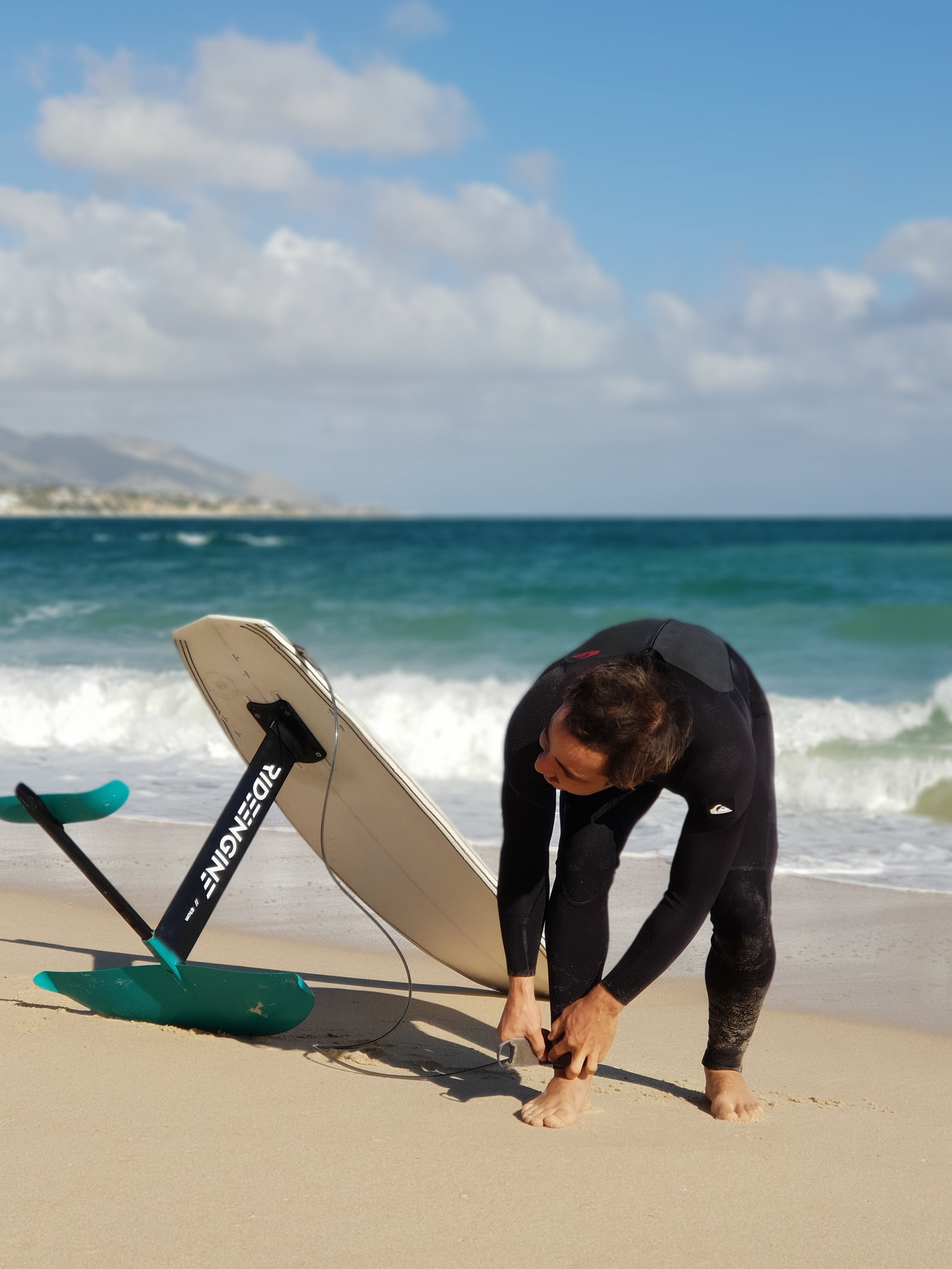Surfing and foiling in Baja California Sur, in La Ventana.