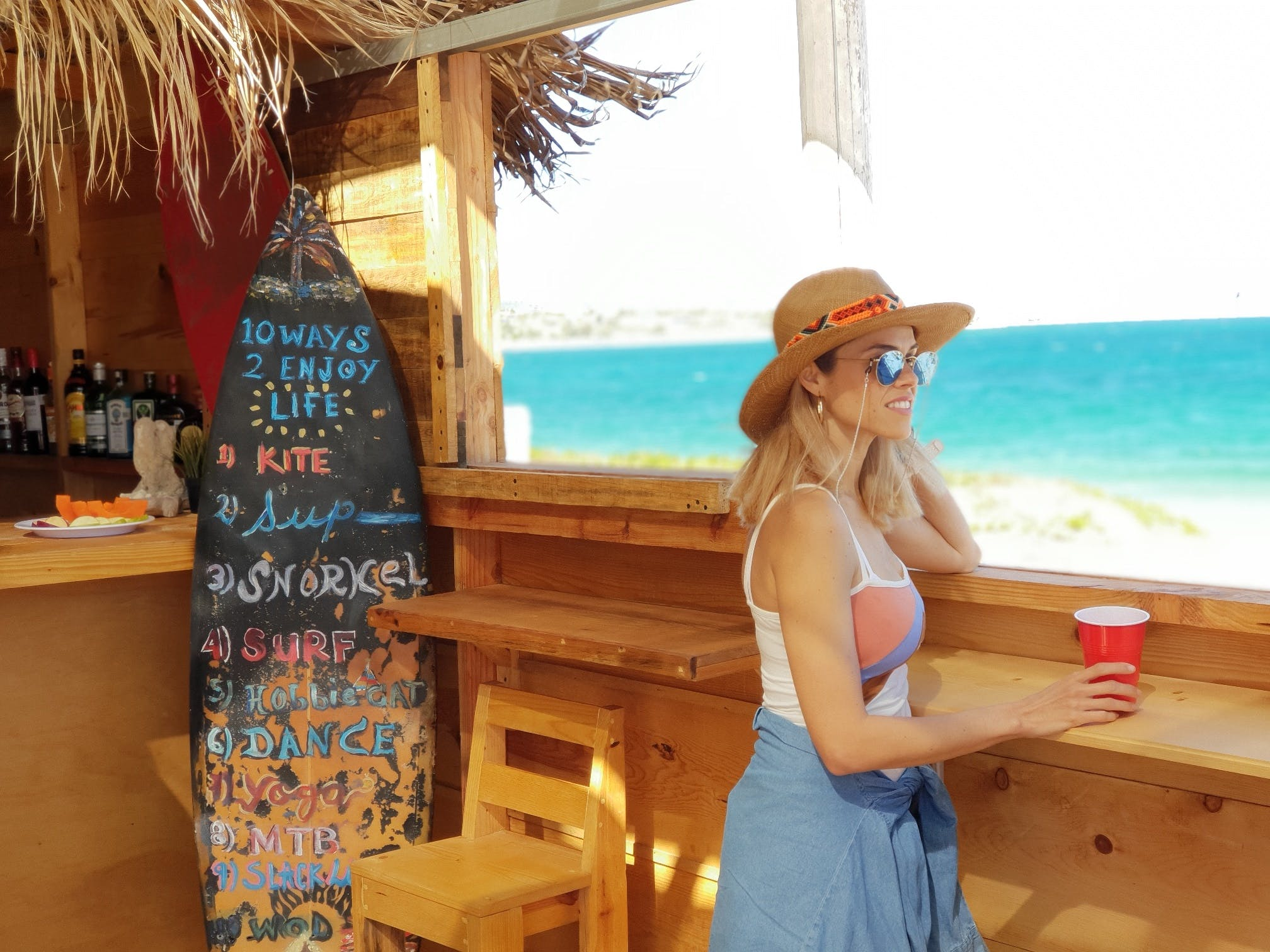 tasty beers and snacks in Beach Club in La Ventana, ChiloChill.