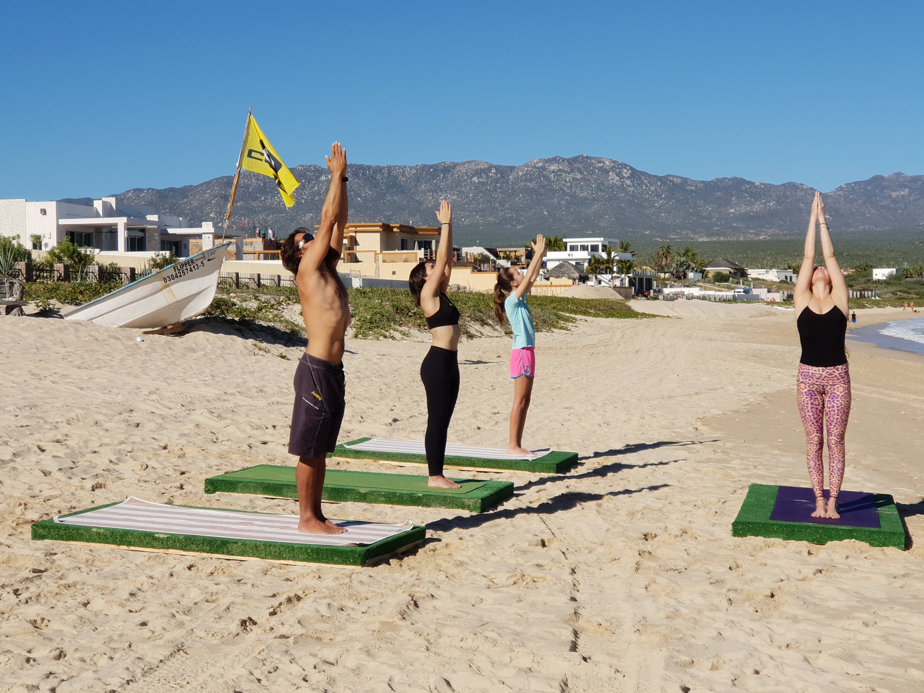 Elena, our yoga instructor in ChiloChill, La Ventana, Baja California Sur, Mexico.