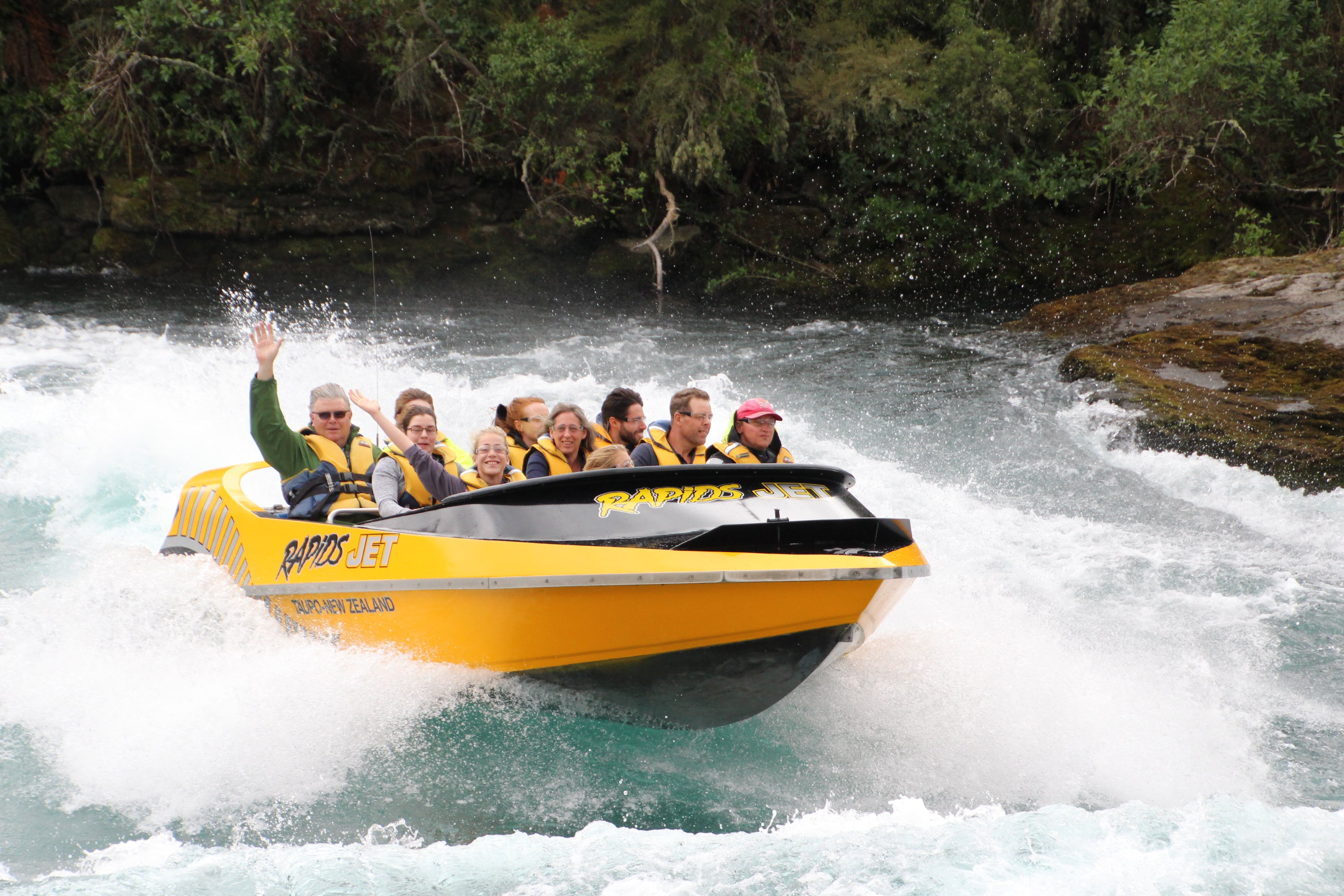 owner of chalet eiger waves from Rapids Jet