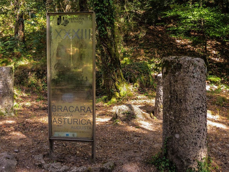 Ancient landmark of the Roman pathway linking Braga to Spain