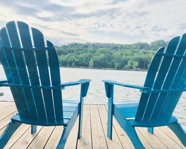 Sit on the dock and enjoy the lake.