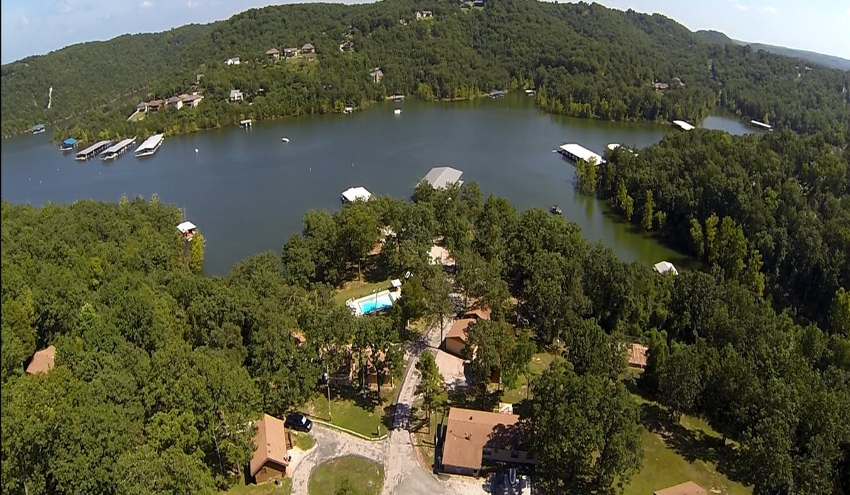 Aerial photo of Mill Creek Resort