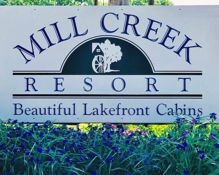 Mill Creek Resort Sign