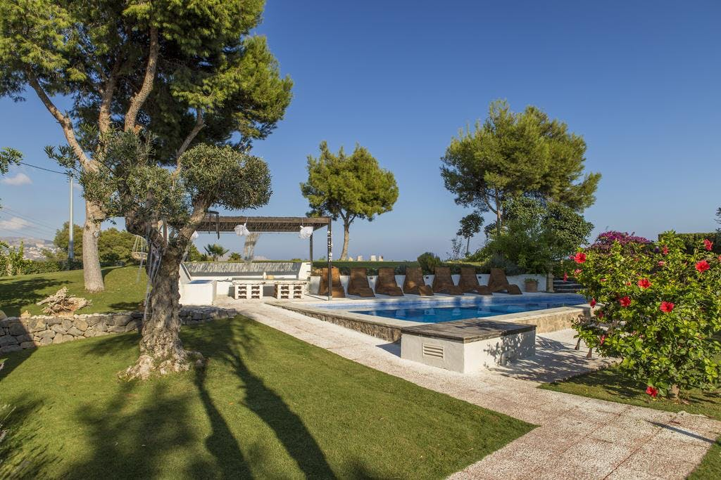 mimar villa altea outside garden and pool