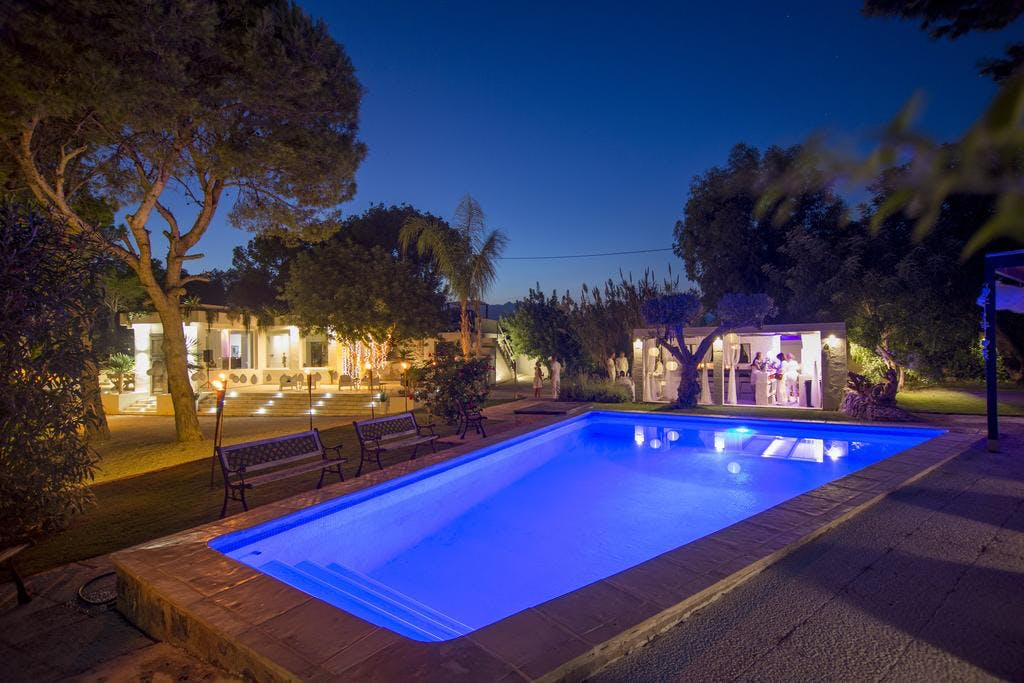 mimar villa altea pool evening
