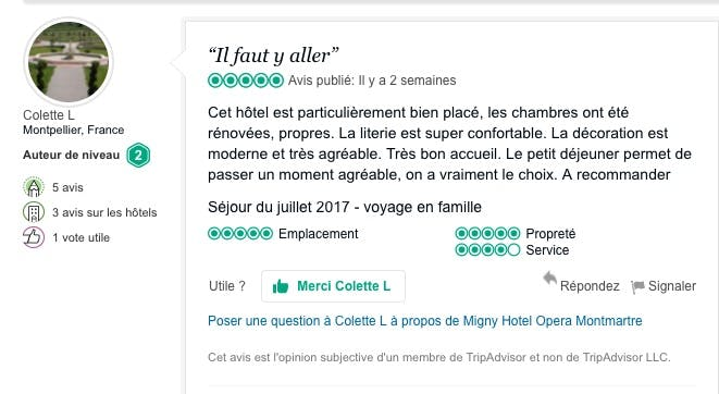 Guests Reviews Hotel Migny Opera Montmartre