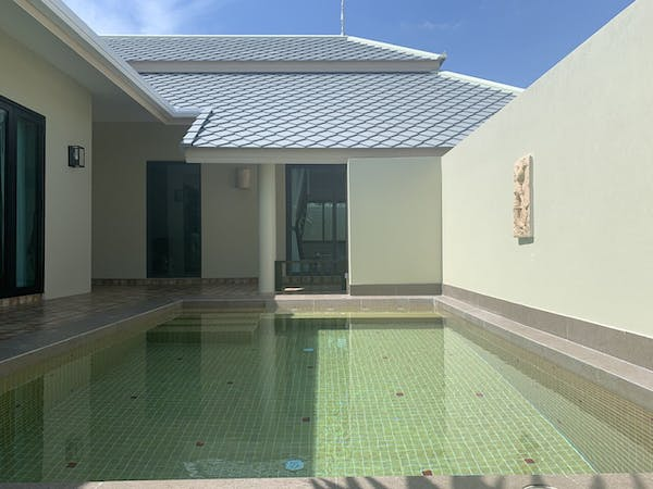 private pool, wis beach, khanom, nadan beach, villa, beach resort, nakhon, nakorn