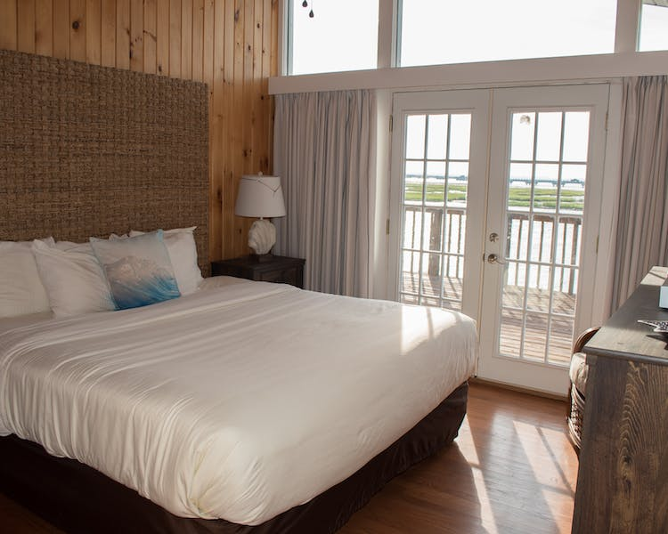 Oyster Cottage, Master Bedroom with waterviews