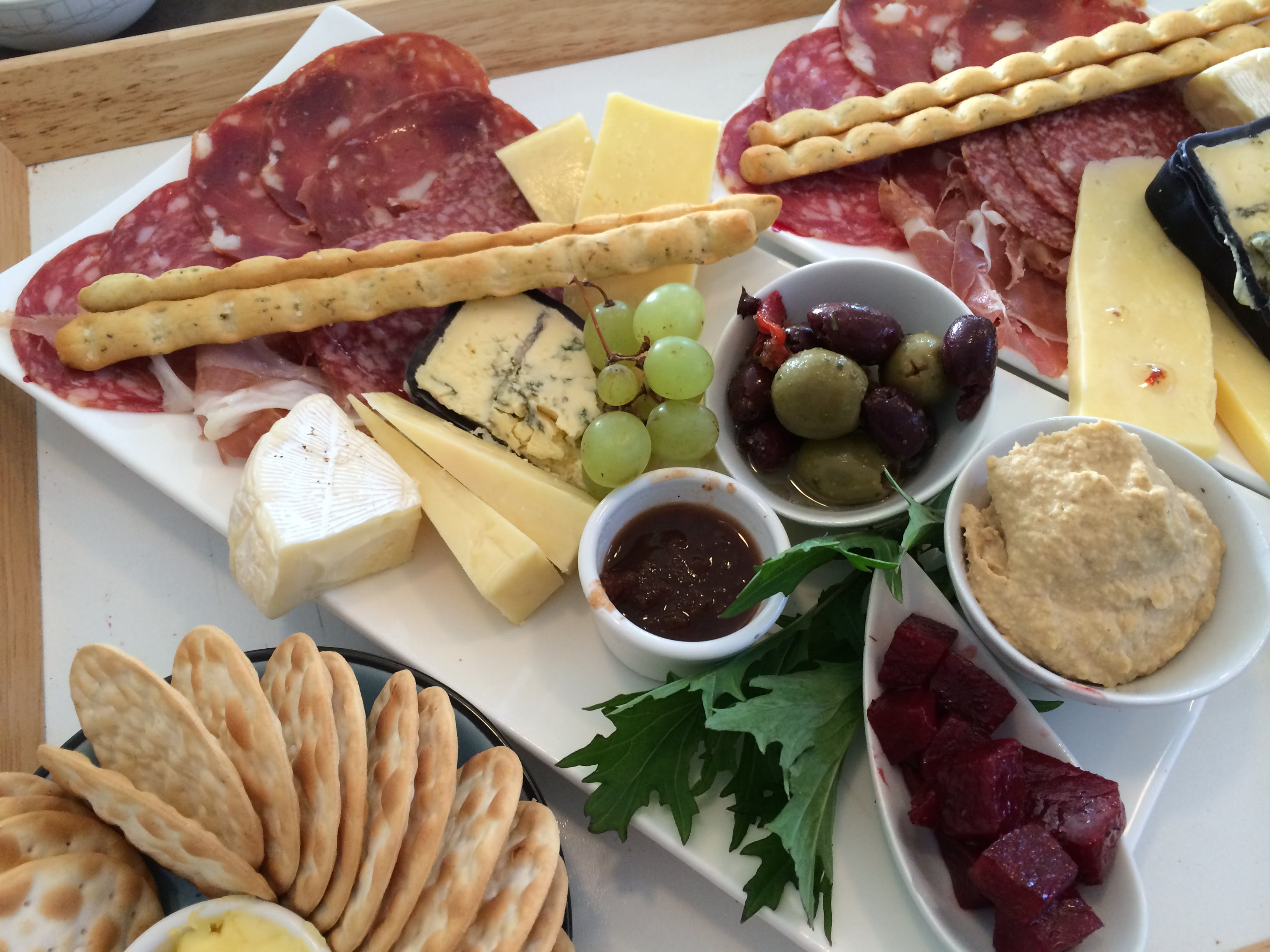 Delicious antipasto platter to enjoy on the deck with a glass of wine.