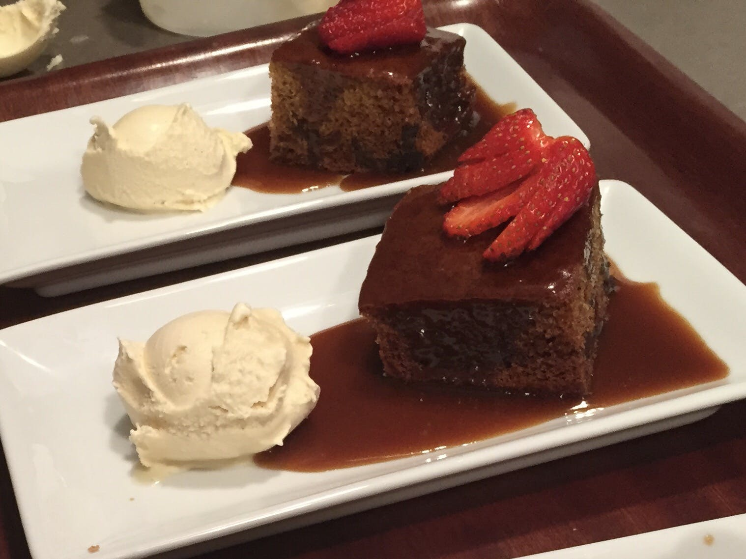 Sticky date pudding - our most poular dessert.