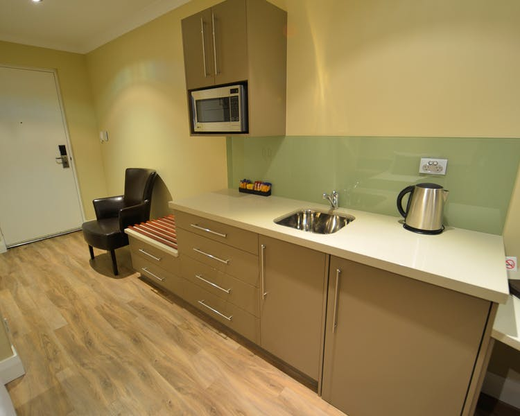 Kitchenette facilities at the Bentley Motel