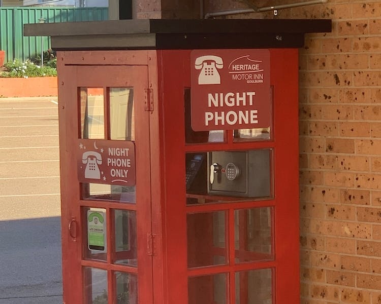 Night Phone for 24 hour check-in