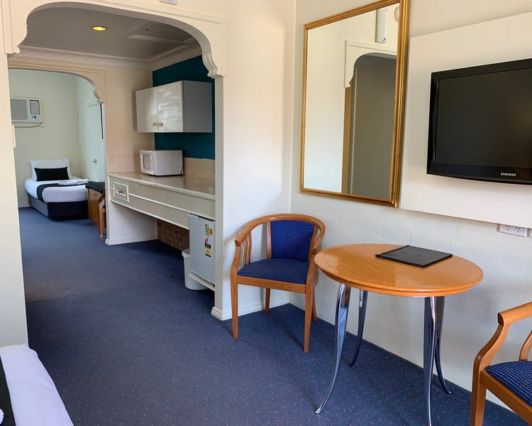 Family Suite - Looking at Kitchenette from front area towards back sleeping area