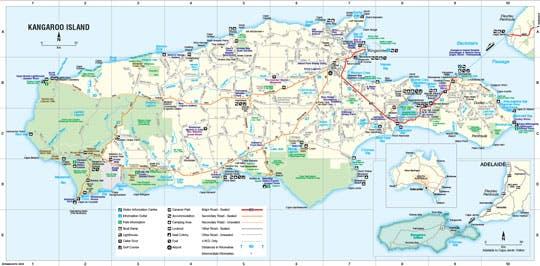Kangaroo Island Map Kangaroo Island Maps | Kangaroo Island Seaside Inn Kangaroo Island Map