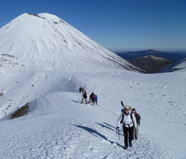 Mount Ngauruhoe on a Guided Winter Hike with Adventure Outdoors.