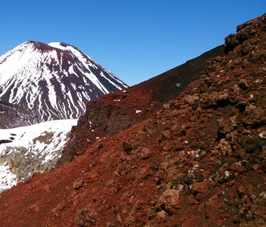 Beautiful Volcanic colours in the Tongariro National Park in Spring time with Adventure Outdoors.