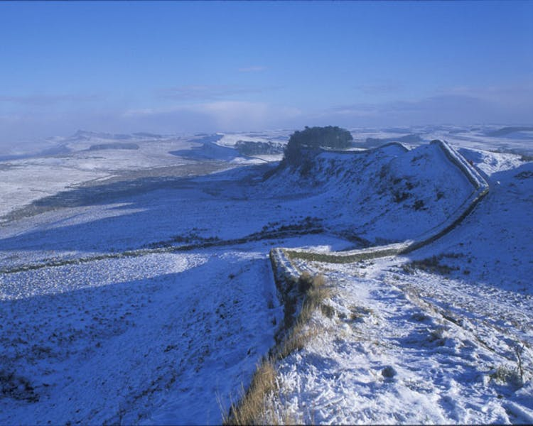 Hadrian's Wall in Winter.
