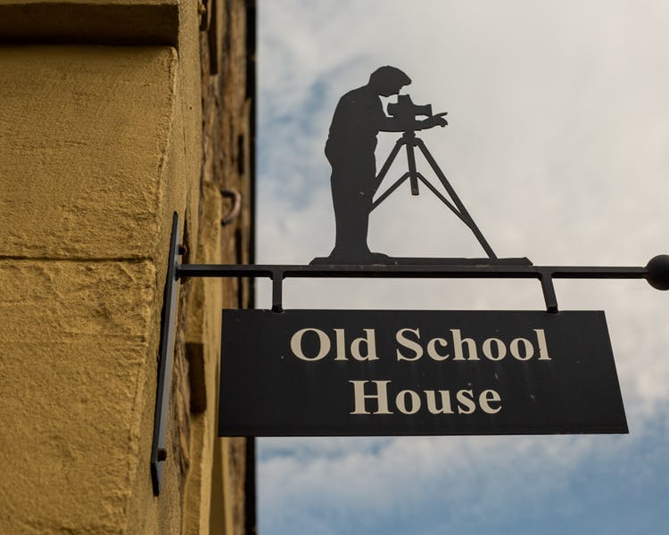 Sign for the Old Schoolhouse Bed and Breakfast in Haltwhistle, Northumberland
