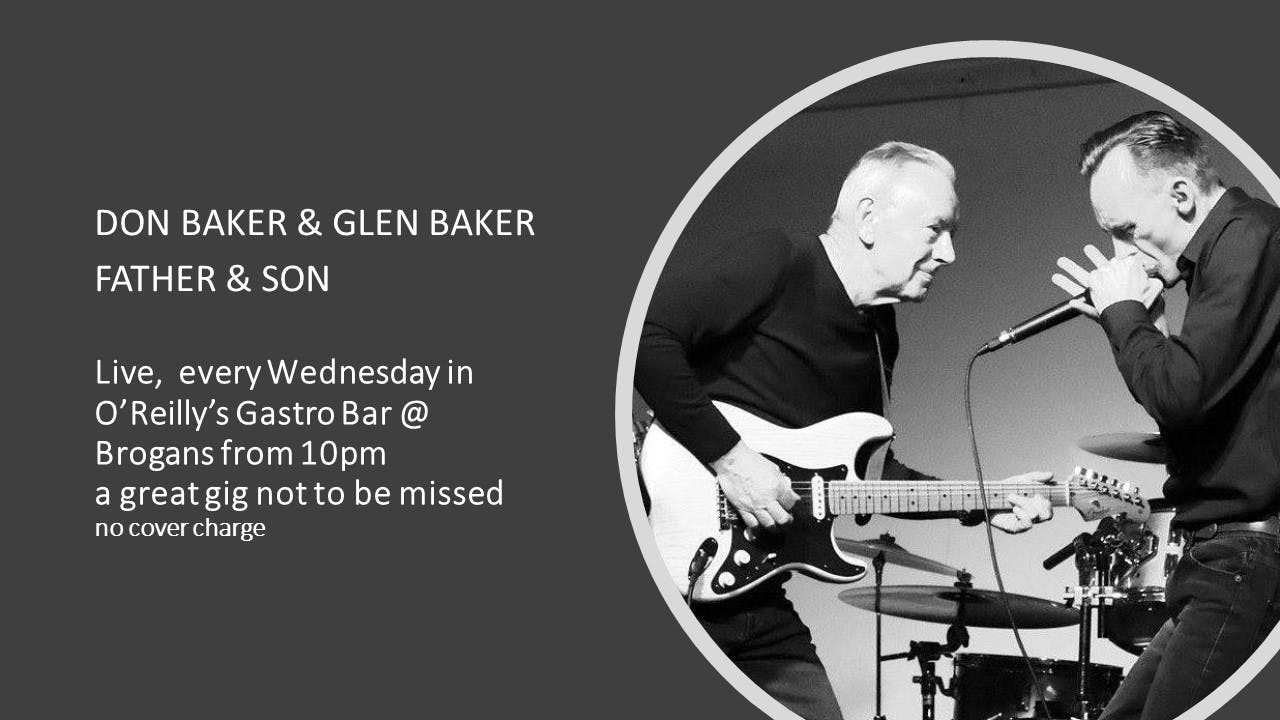 Every Wednesday in O'Reilly's Gastro Bar @ Brogans. Father & Son Duo Don Baker & Glen Baker #StayInTrim #Trimtourism