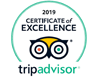 Trip Adviser Certificate of Excellence 2019
