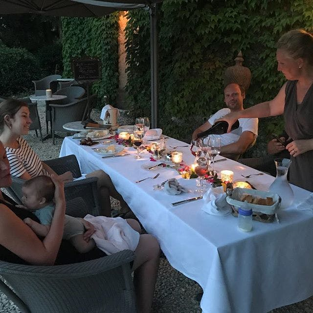 Private dinner party at Chateau Valcreuse