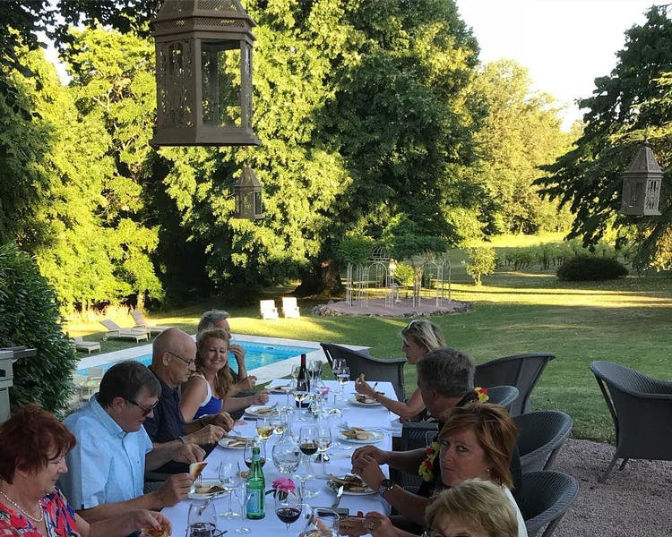 Diner at Château Valcreuse in La Roche Posay