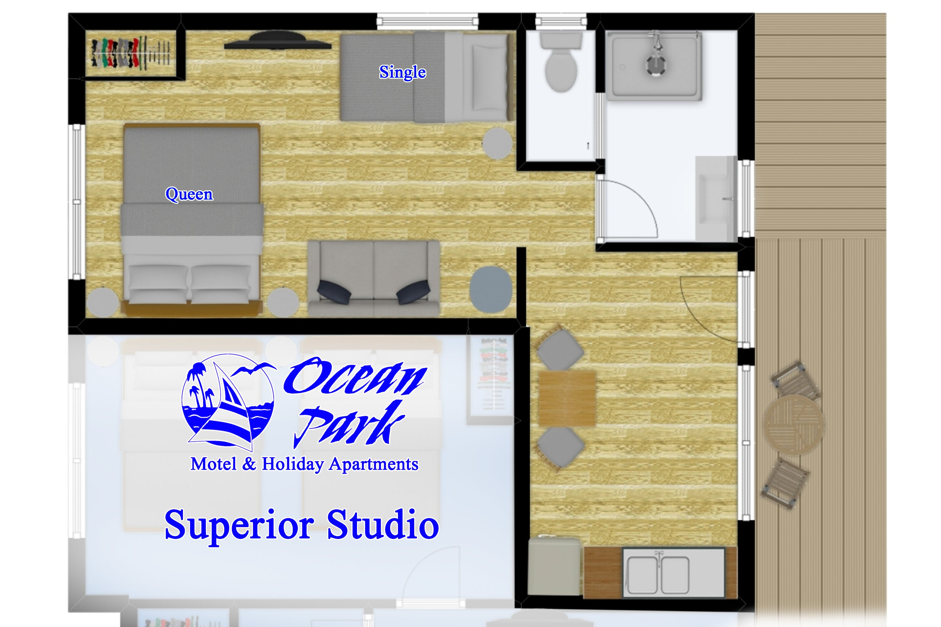 Superior Studio Floor Plan