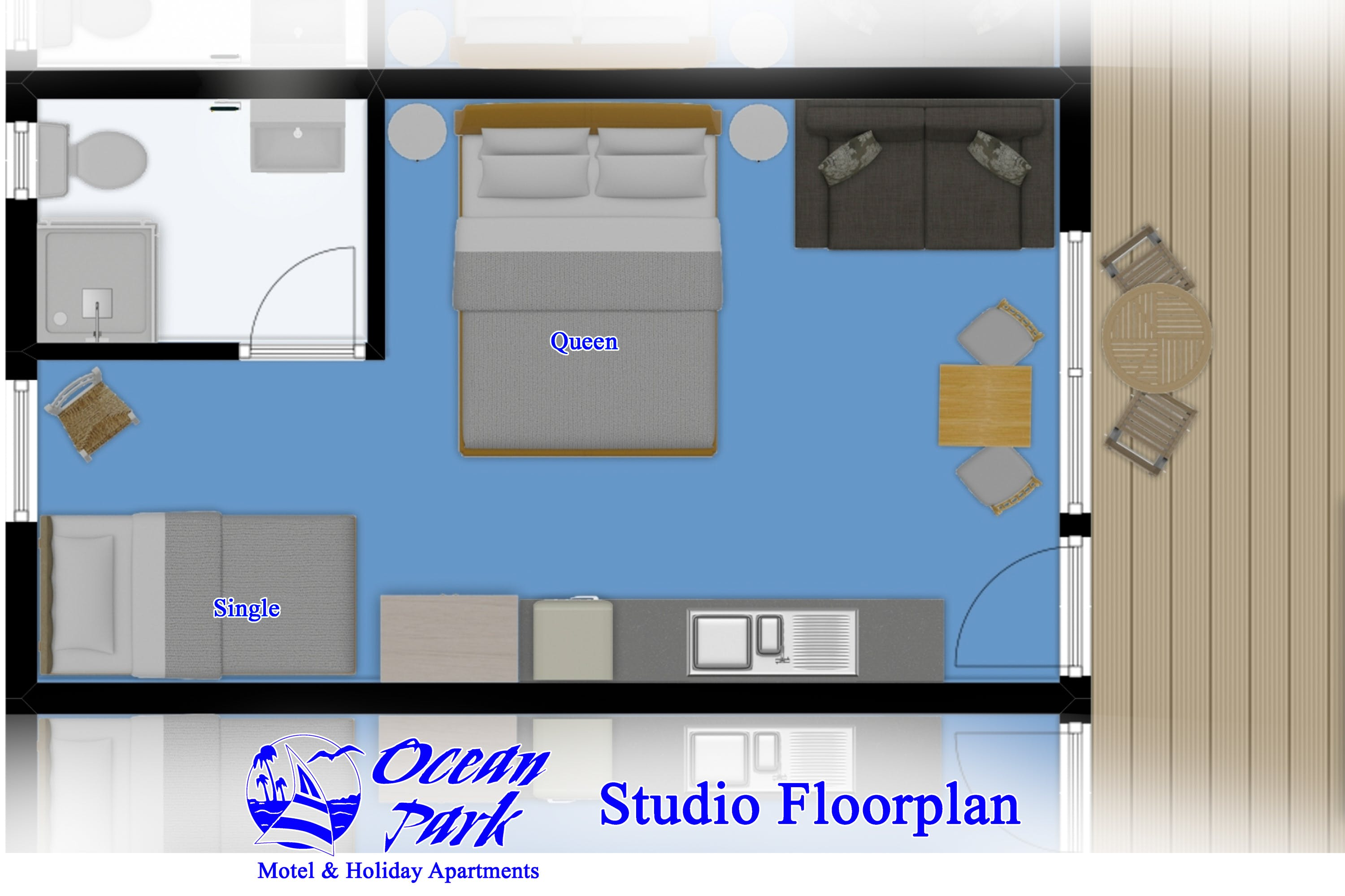 Studio Room Floor Plan