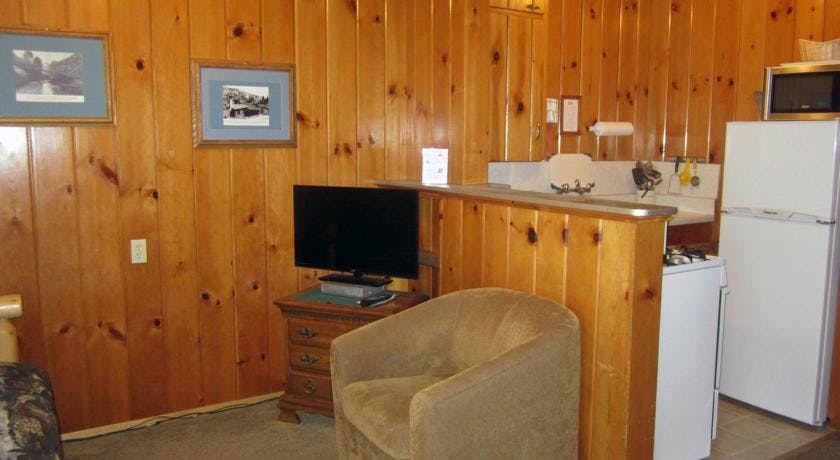 Livingroom in 2-bedroom cabin.
