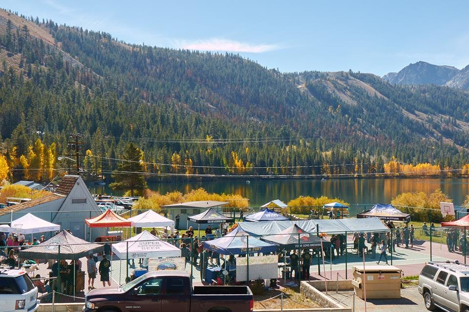 June Lake Autumn Beer Fest held the first Saturday of October amidst the fall colors of Gull Lake.