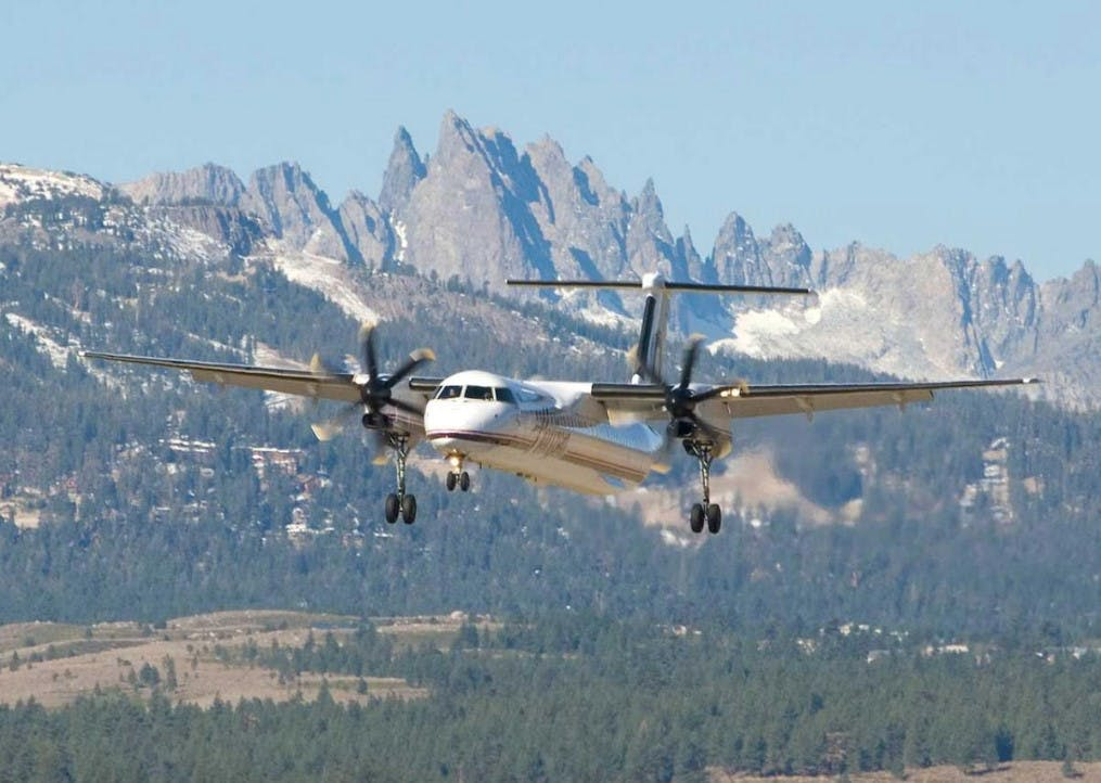 Fly into Mammoth Lakes