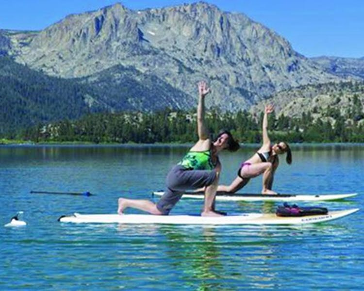 SUP Yoga on June Lake.