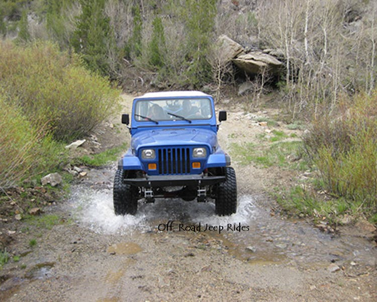 Off road jeeping in June Lake