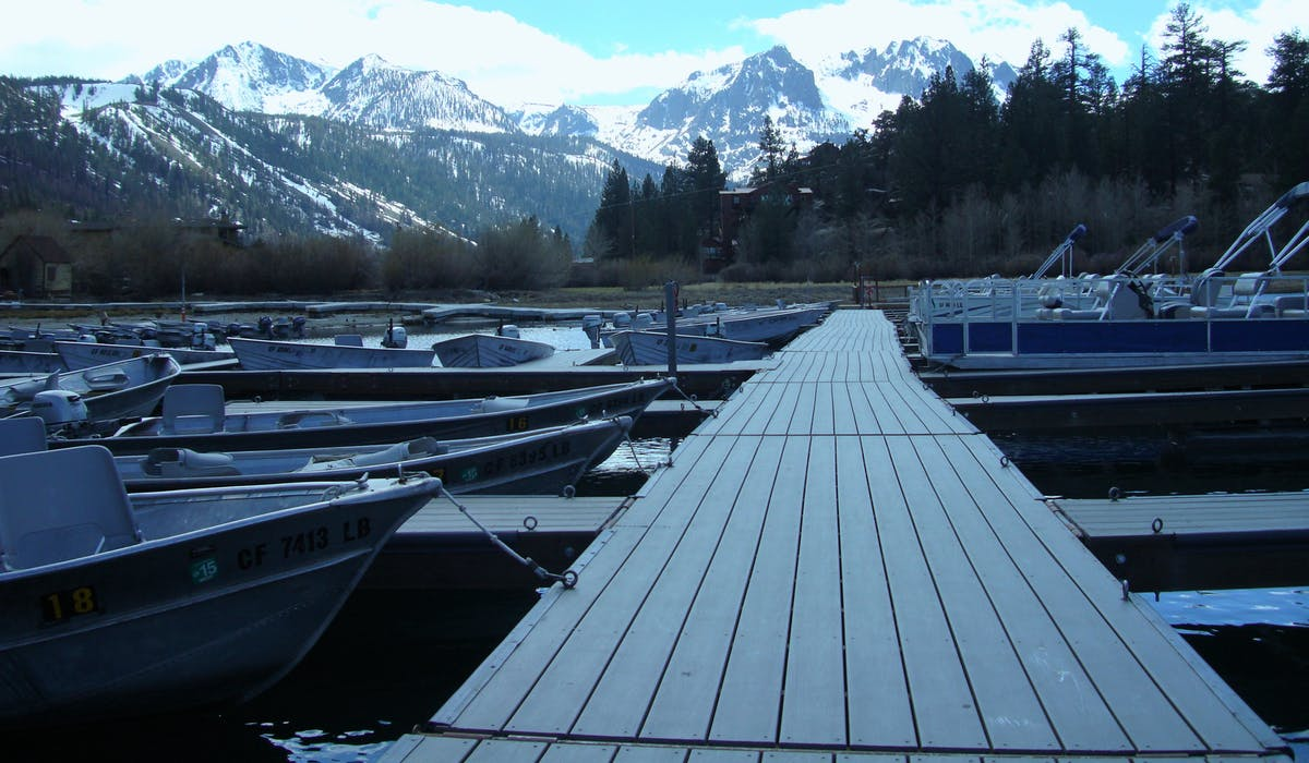 June Lake Marina docks