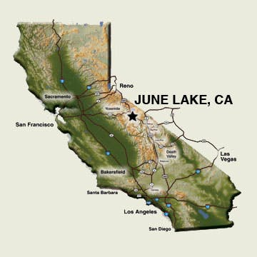 Map June Lake, California