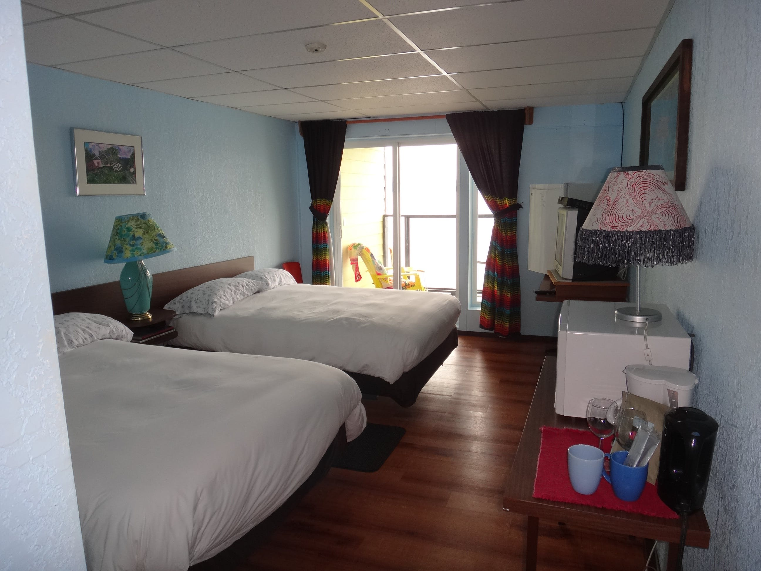 Rooms 202-208. Oceanfront Room with Two Queen Beds & balcony.- $149.00