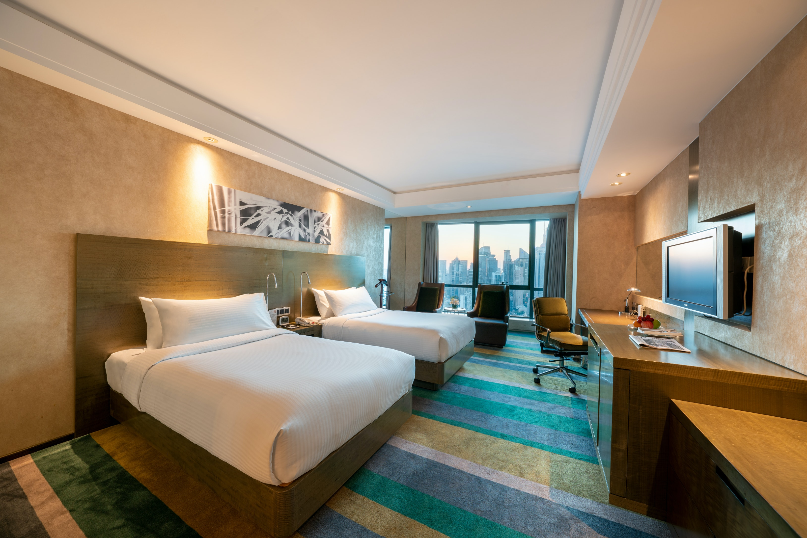 Deluxe Twin Bed Room The Eton Hotel Shanghai 上海裕景大飯店