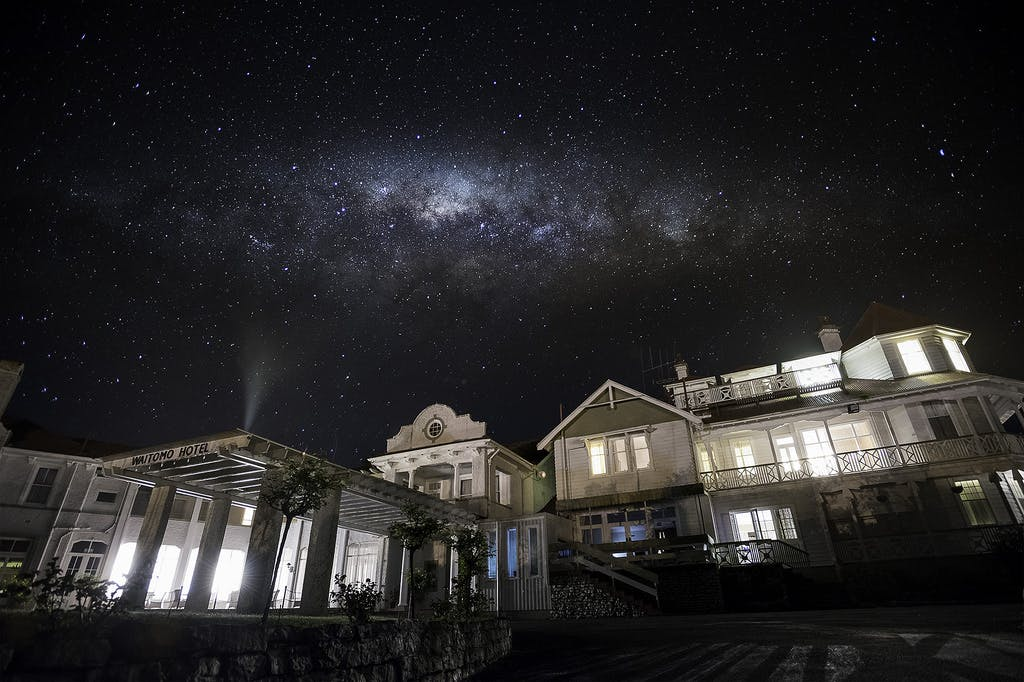 Waitomo caves hotel, night