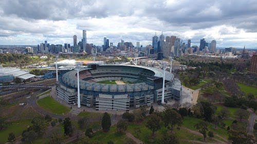 The Melbourne Cricket Ground is a short distance away.