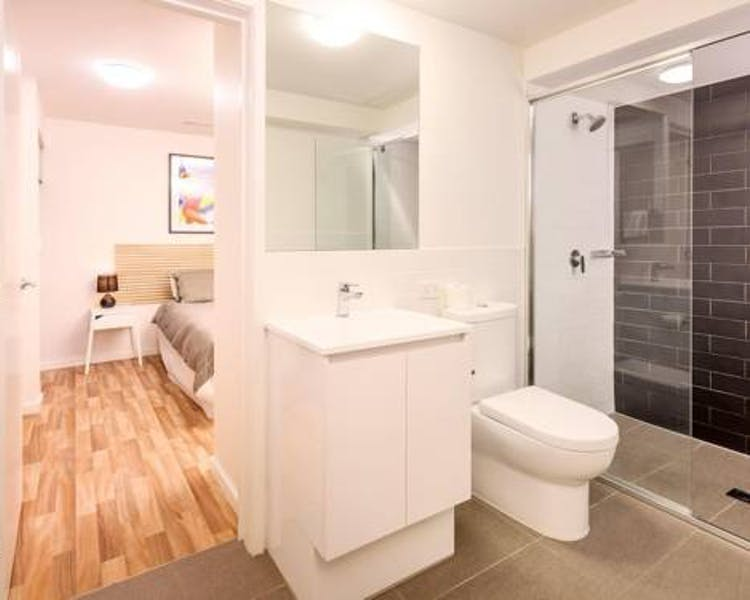 Bathroom Unit 8 sandbox Apartments