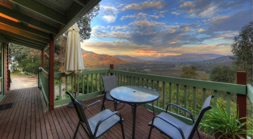 Amazing views at the Upper Murray Cottages