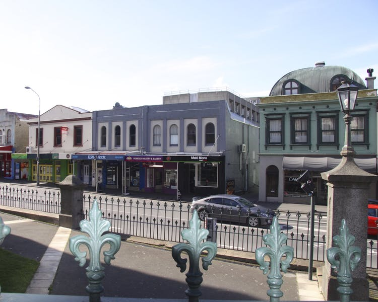 Heritage shop facades on George Street