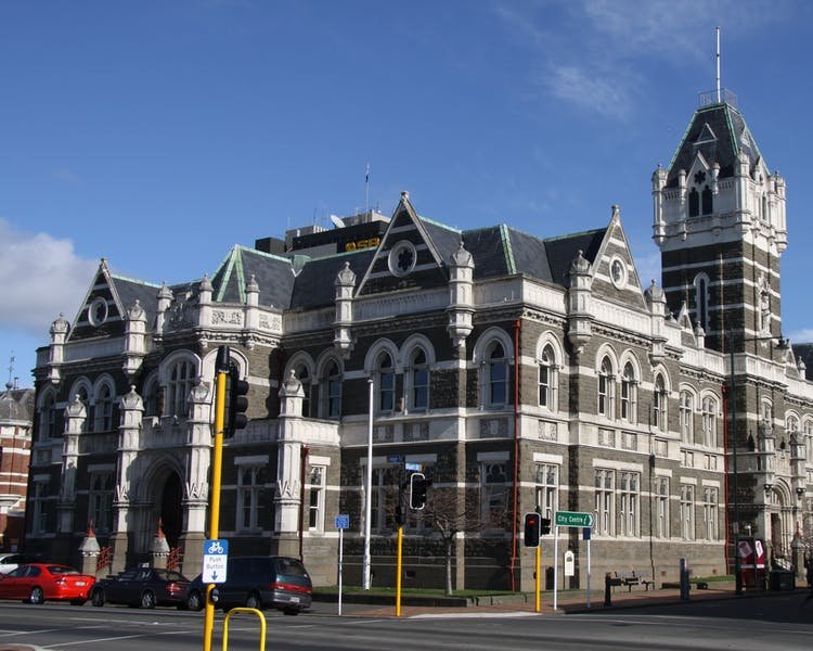 Dunedin Law Courts in lower Stuart Street