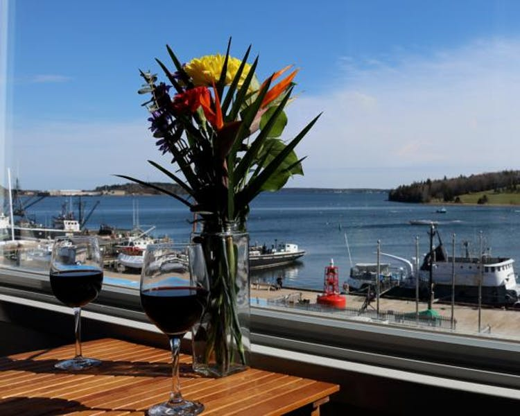 Lunenburg harbor from our windows