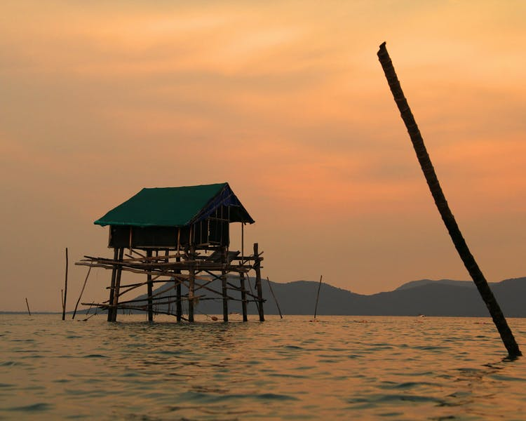 Phu Quoc stilt houses over the water