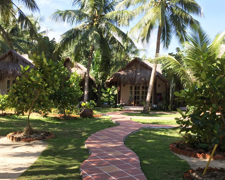 Phu Quoc Resort Garden Pathway at Peppercorn Beach