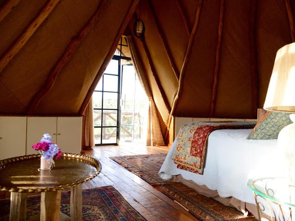 Olepangi Farm - The Round House Bedroom