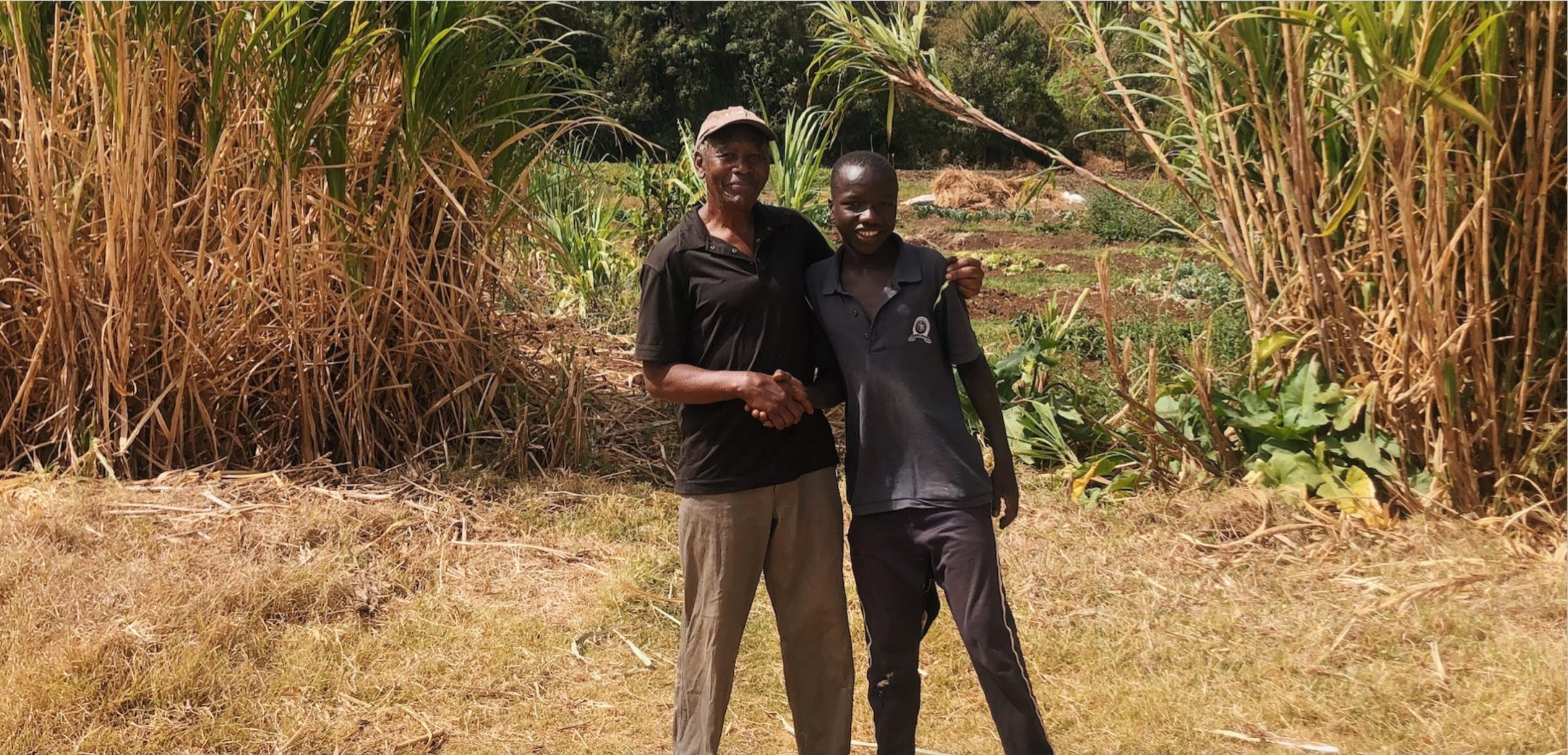 Walks at Olepangi Farm with Mr Kariuki