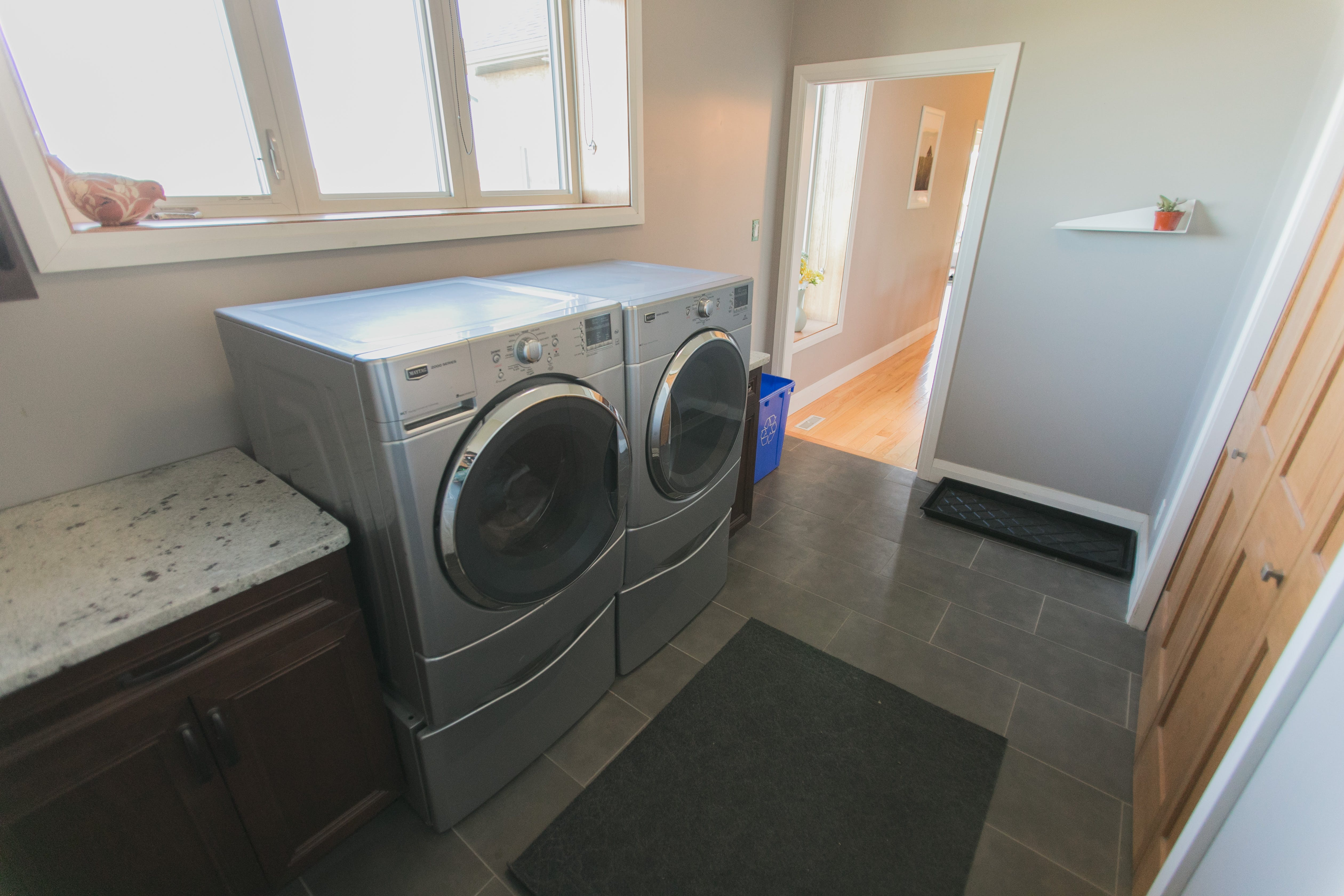 Complimentary Washer and Dryer